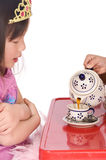 Tea Party. Two young asian girls having a tea party Stock Image