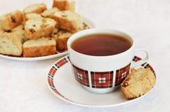 Tea party with cakes Stock Photos
