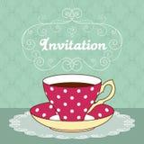 Tea party card Royalty Free Stock Photo