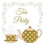 Tea party card Stock Photos