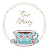 Tea party card Royalty Free Stock Photos