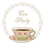 Tea party card Stock Photo