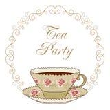 Tea party card Stock Photo