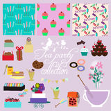 Tea party collection Royalty Free Stock Images