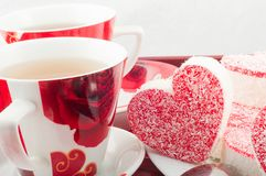 Tea party with cookies Royalty Free Stock Photography