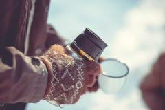 Tea party do inverno Fotos de Stock Royalty Free