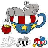 Tea Party Elephant Donations Royalty Free Stock Photo