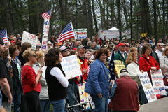 Tea Party Express Rally - Traverse City, MI Royalty Free Stock Image