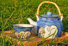 Tea party in the garden Stock Photos