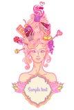 Tea party girl Royalty Free Stock Photo
