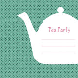 Tea party invitation Stock Photo