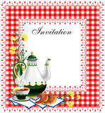 Tea party invitation. Great for birthday party, luncheon or high tea royalty free illustration