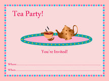 Tea Party Invitation Royalty Free Stock Photos