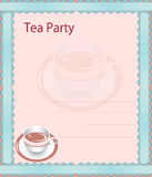 Tea party invitation Royalty Free Stock Image