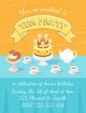 Tea Party Invitation Template Royalty Free Stock Photos