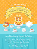 Tea Party Invitation Template Royalty Free Stock Photos