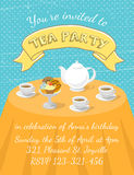 Tea Party Invitation Template Stock Image