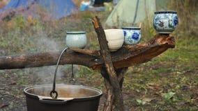 Tea party na natureza Fotos de Stock Royalty Free