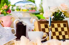 Tea party in park Stock Images