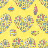 Tea party pattern background Stock Image