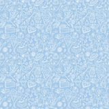 Tea party pattern background Stock Photos
