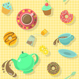 Tea Party Pattern Royalty Free Stock Photo