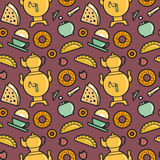 Tea party pattern Royalty Free Stock Images