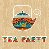 Tea Party Poster Stock Photography
