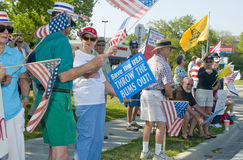 Tea Party Protesters Stock Photo