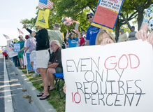 Tea Party Protesters Royalty Free Stock Photos