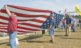 Tea Party Protesters. Concerned citizens peacefully protest against big government spending in Pensacola, Florida Royalty Free Stock Photo