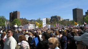 Tea Party Rally on Boston Common. Rally of roughly 5,000 people in Boston Massachusetts as part of the Tea Pary movement in the USA. It featured Sarah Palin and Royalty Free Stock Image