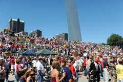 Tea Party Rally in Saint Louis Missouri stock image