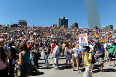 Tea Party Rally in Saint Louis Missouri Royalty Free Stock Photo