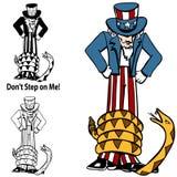 Tea Party Rattlesnake Uncle Sam Royalty Free Stock Photo