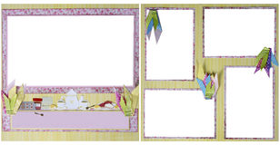 Tea Party Scrapbook Frame Template Royalty Free Stock Photos