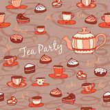 Tea party. Seamless pattern Royalty Free Stock Photo