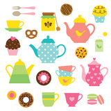 Tea Party Set Royalty Free Stock Photography