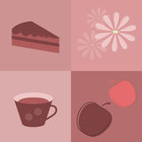Tea Party.. Set of elements for design Stock Photo