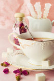 Tea Party in Shabby Chic style Royalty Free Stock Photo