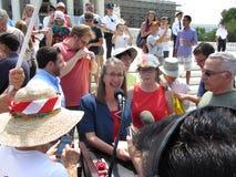 Tea Party Speakers Royalty Free Stock Photos