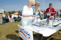 Tea Party Tax Protesters. Tea Party protesters peacefully demonstrate in Pensacola, Florida Royalty Free Stock Photos