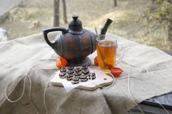 Tea party on the terrace Stock Photography