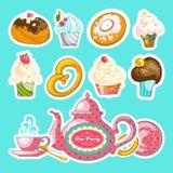 Tea Party  vector set Stock Photos