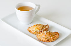 Tea with pastries Stock Images