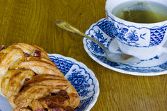 Tea and a pastry Stock Images