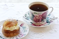 Tea and pastry Royalty Free Stock Photography