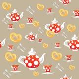 Tea patterm Stock Images