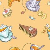 Tea_pattern Obrazy Stock