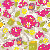 Tea pattern Stock Photography